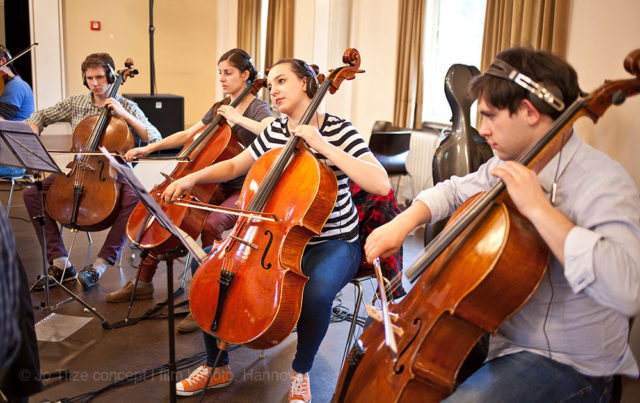 "Score recording session for the motion picture ""Ruby Strangelove: Young Witch"" by Evgeny Ruman. 